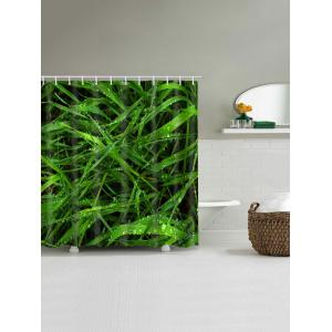 Dew on Fresh Grasses Printed Shower Curtain -