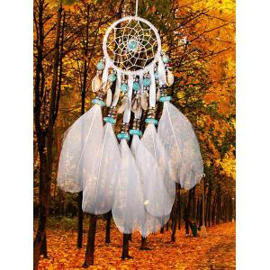 Perles décorations de coquillages Plumes suspendues Dream Catcher -
