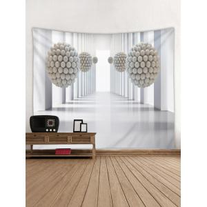 Large Hall 3D Space Print Wall Tapestry -