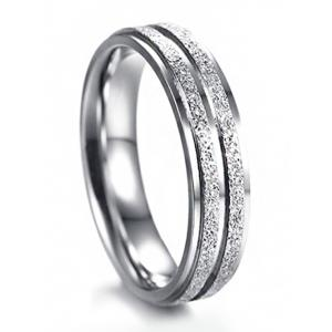 Metal Doubled Circle Finger Ring -