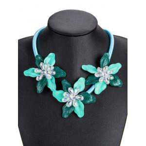 Alloy Necklace with Flower Pendant -