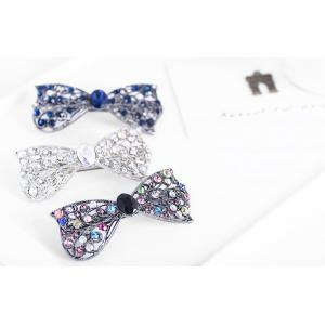 Sparkly Rhinestone Alloy Bows Hairpin -