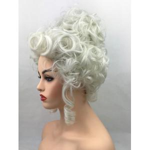 Short Curly Court Hairstyle Synthetic Party Cosplay Wig -