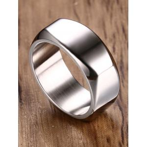 Geometric Design Metal Band Ring -
