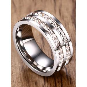 Sparkle Rhinestone Alloy Band Ring -