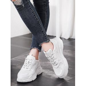Lanbaoli Breathable Mesh Lace Up Gym Sneakers -