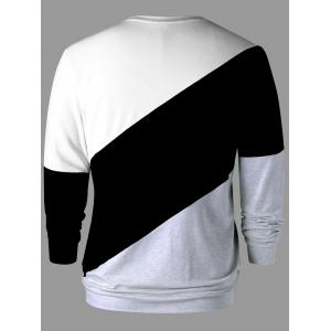 Long Sleeve Color Block Sweatshirt -