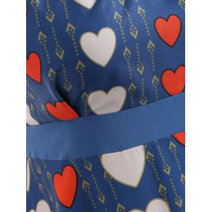 Plus Size Heart Print Sleeveless Dress -