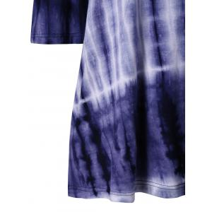 Dip Dye Open Shoulder T-shirt -
