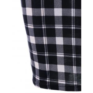 Double Breasted Plaid Fitted Dress -
