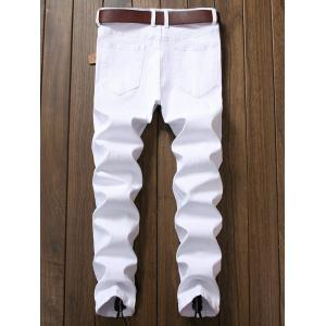 Zipper Decorated Narrow Feet Jeans -