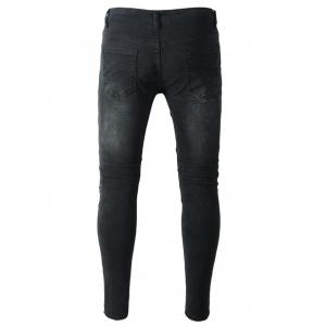 Pantalon en denim usé Slim Fit -