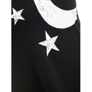 Moon Star Print Plus Size Tank Top -