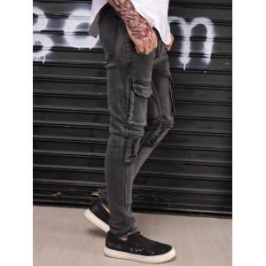 Narrow Feet Ripped Slim Fit Jeans -