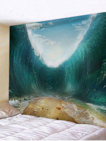Store Starfish Beach Sea Wave Print Wall Hanging Tapestry
