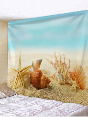Conch Shell plage Starfish impression Wall Art Tapestry