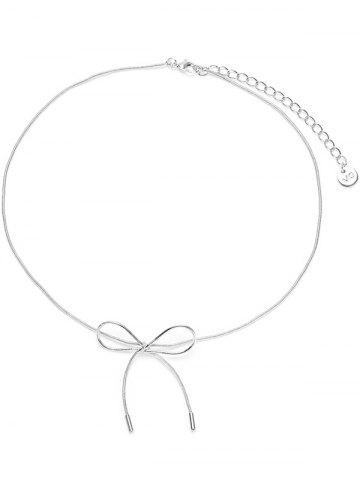Discount Bow Necklace with Lobster Clasp