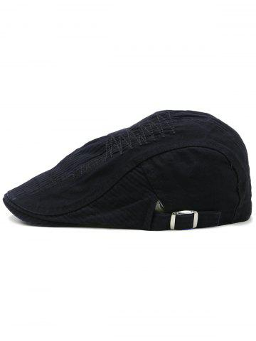 Store Line Embroidery Adjustable Newsboy Hat