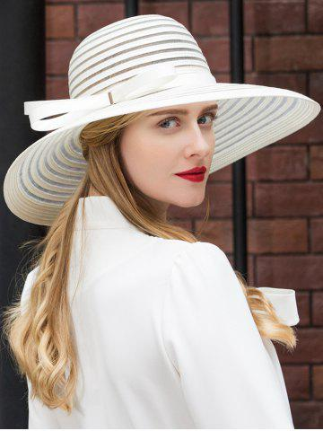 Discount Striped Pattern Bowknot Sun Hat