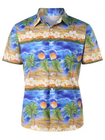 Best Button Up Printed Beach Shirt
