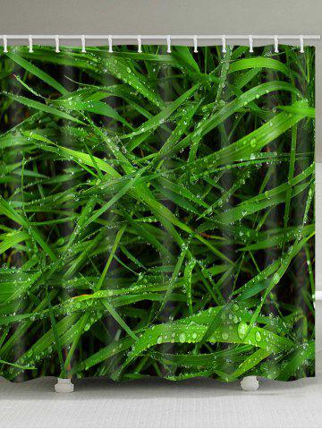 Cheap Dew on Fresh Grasses Printed Shower Curtain
