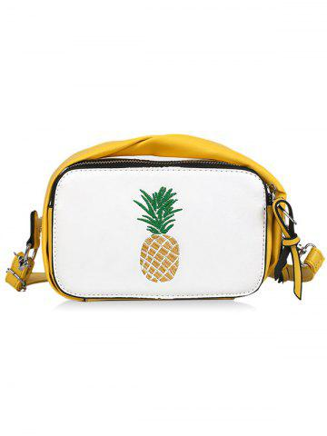 Outfits Embroidery Fruit PU Leather Crossbody Bag