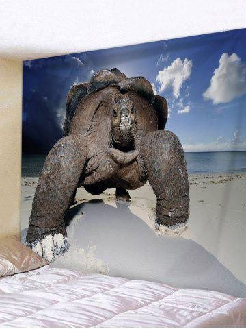 Latest Turtle Crawling on the Beach Print Tapestry