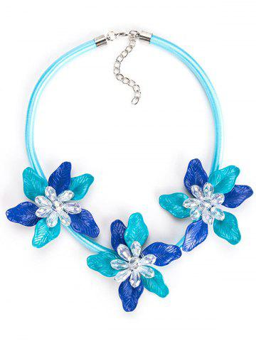 Fancy Alloy Necklace with Flower Pendant