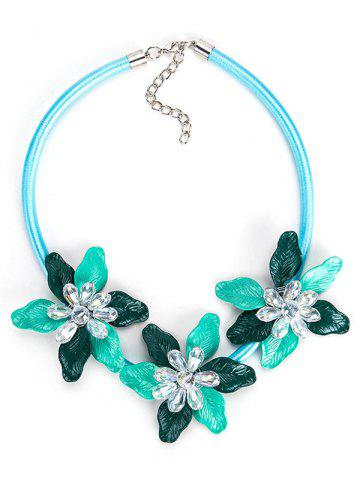 Shops Alloy Necklace with Flower Pendant