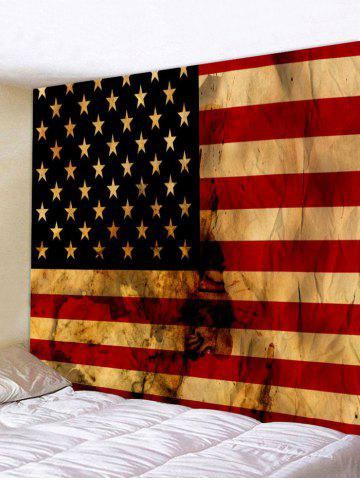 Best Wall Hanging Art Retro US Flag Print Tapestry