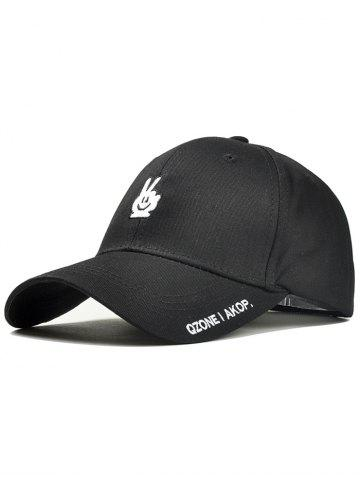 Unique Victory Gesture Embroidery Trucker Hat