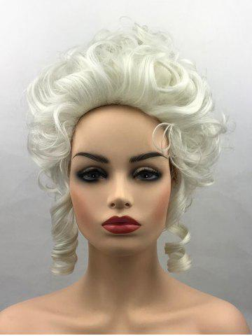Trendy Short Curly Court Hairstyle Synthetic Party Cosplay Wig