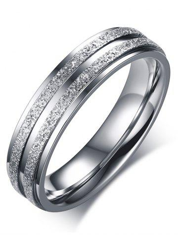 Hot Stainless Steel Double Round Finger Ring