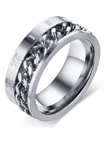 Shops Metal Roman Numerals Chain Finger Ring