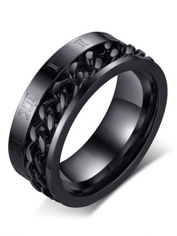 Chic Metal Roman Numerals Chain Finger Ring