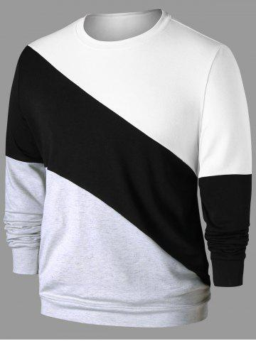 Buy Long Sleeve Color Block Sweatshirt