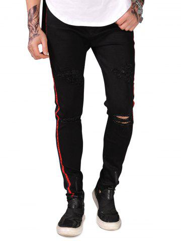 Chic Narrow Feet Zipper Decorated Jeans