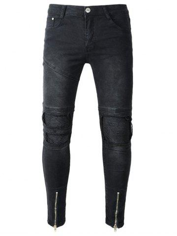Pantalon en denim usé Slim Fit