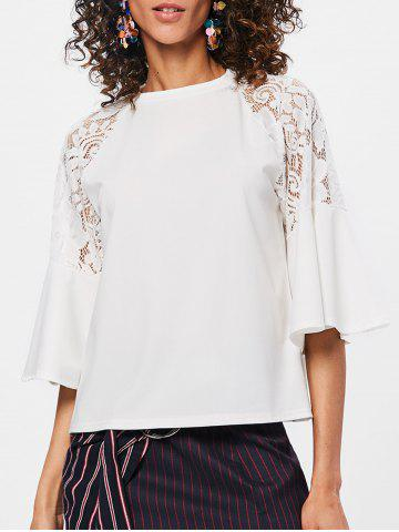 Best Lace Insert Raglan Sleeve T-shirt