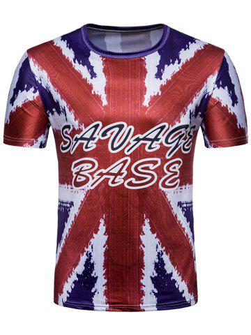 Best British Flag Letter Print Short Sleeve T-shirt