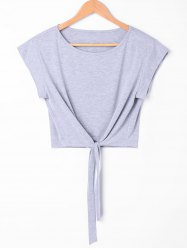 Tie Front Cropped Tee -