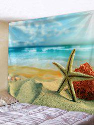 Sea Beach Starfish Print Wall Tapestry -