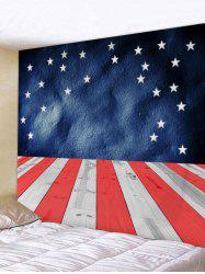American Flag Wood Plank Print Wall Hanging Tapestry -