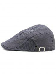 Line Embroidery Adjustable Newsboy Hat -