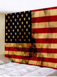 Wall Hanging Art Retro US Flag Print Tapestry -