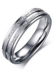 Stainless Steel Double Round Finger Ring -