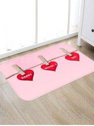 Happy Mother's Day Pattern Water Absorption Area Rug -