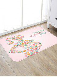Mother's Day Flowerd Art Design Indoor Outdoor Area Rug -