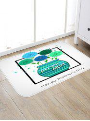 Happy Mother's Day Vase of Flowers Print Floor Area Rug -