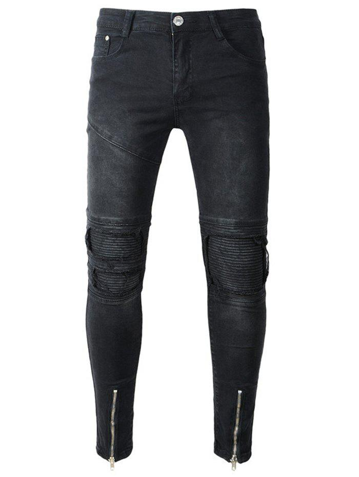 Chic Slim Fit Distressed Denim Pants